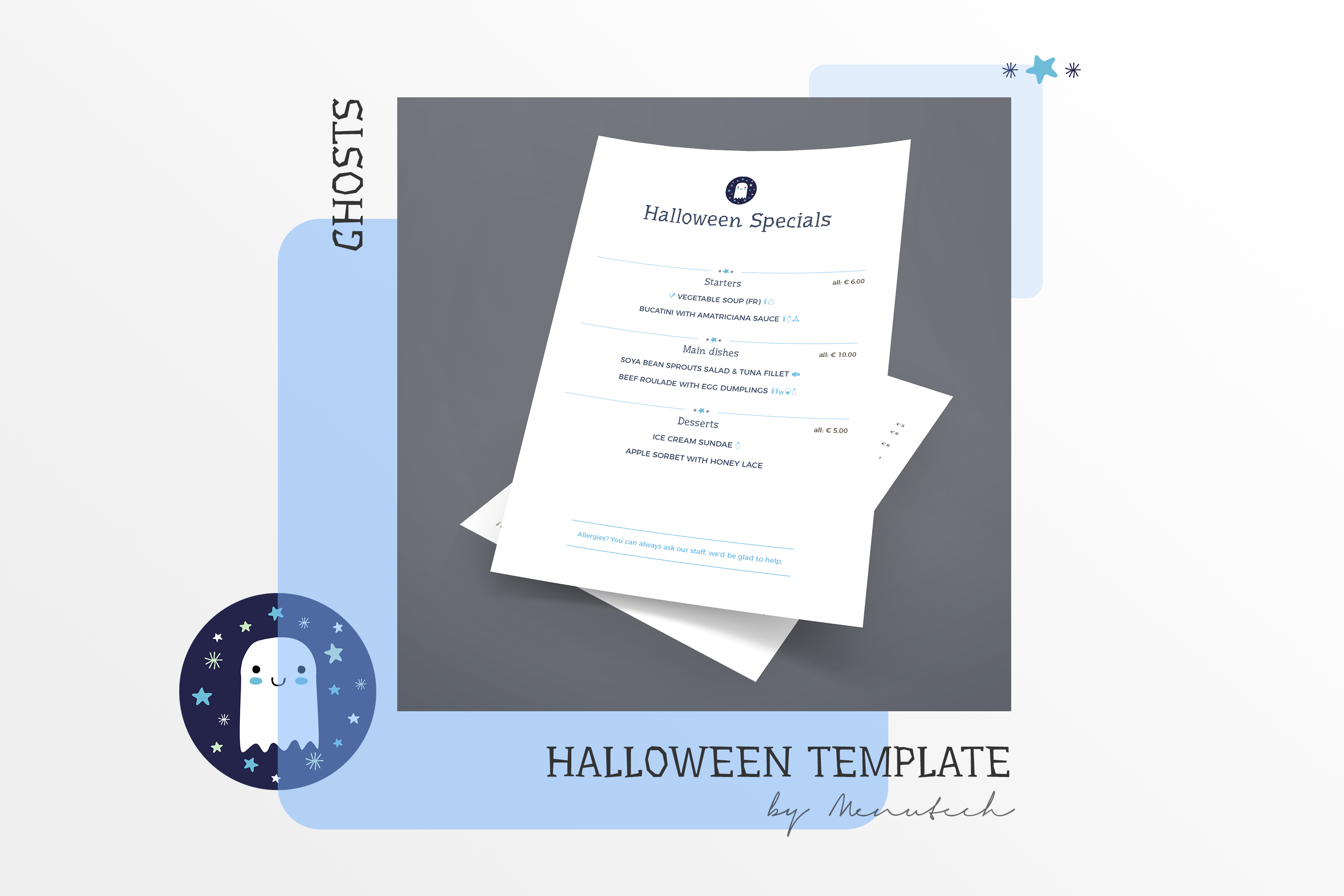 halloween menu templates with allergens and translations menutech