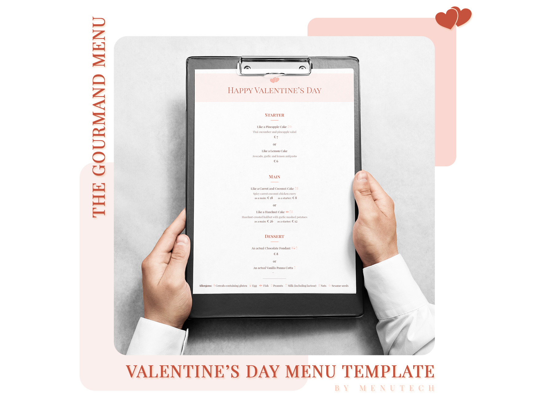 Menutech Gourmand Valentine's Day Menu
