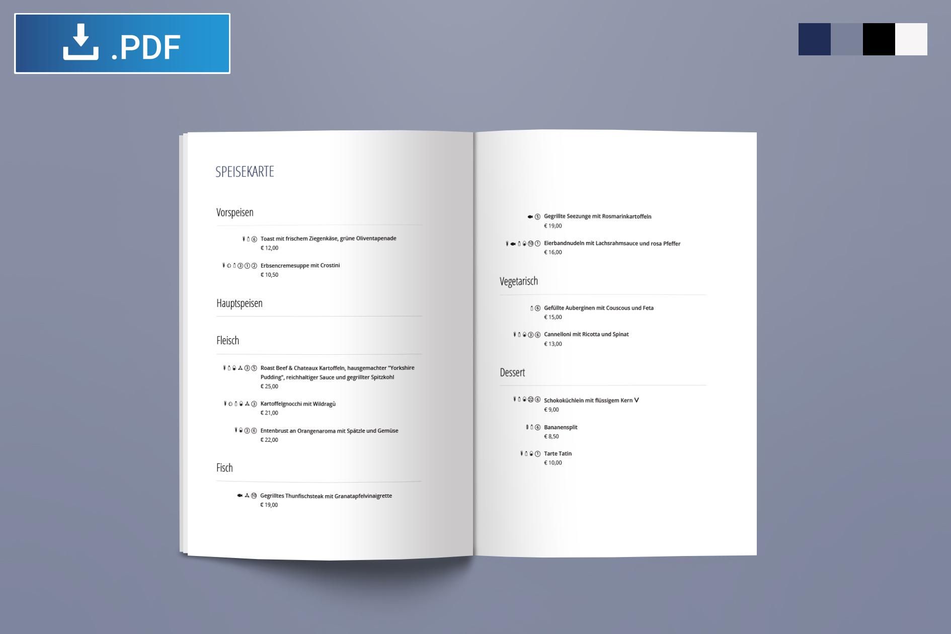 Gratis Downloads Buffetschilder Lebensmittel Kennzeichnung